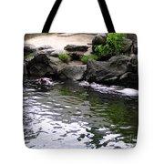 Swimming Hippo Tote Bag