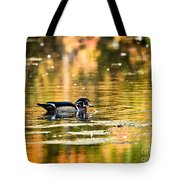 Swimming In Gold Tote Bag