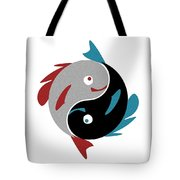 Swimming In Harmony Tote Bag by Anastasiya Malakhova