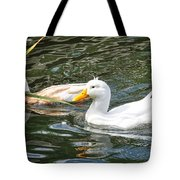 Swimming In The Pond Tote Bag