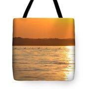 Swimming Into The Sun Tote Bag