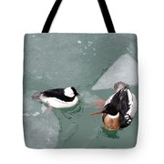 Swimming With Ice Tote Bag