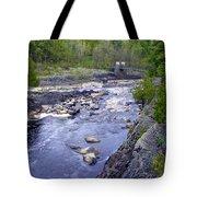 Swing Bridge Over The River Tote Bag