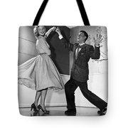 Swing Dancing Couple Tote Bag