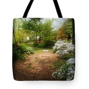 Swing In The Garden Tote Bag