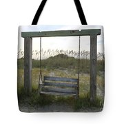 Swing On The Beach Tote Bag