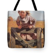 Swinging On A Gate Detail Tote Bag