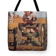 Swinging On A Gate Tote Bag