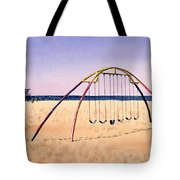 Swingset On Beach Tote Bag