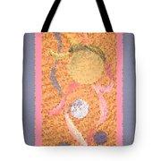 Swirl Body Bubble Person Dancing With Ribbons Twirling Tote Bag