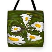 Swirl Of Daisies Tote Bag