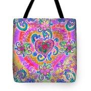 Swirley Heart Variant 1 Tote Bag