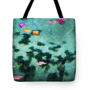 Swirling Leaves And Petals 4 Tote Bag