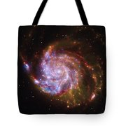 Swirling Red Galaxy Tote Bag