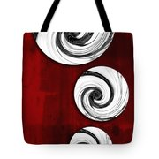 Swirling Round Tote Bag