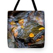 Swirling Stream Of Leaves  Tote Bag