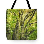 Swirls Of Green Tote Bag