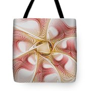Swirls Of Red And Gold Tote Bag