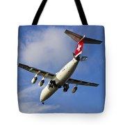 Swiss Air Bae146 Hb-ixw Tote Bag
