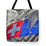 Swiss Flags  Tote Bag