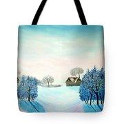Swiss Opus Blue Christmas Tote Bag
