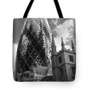 Swiss Re Tower In London Tote Bag
