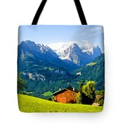 Switzerland Oil On Canvas Tote Bag