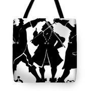 Sword Duel Silhouette  Tote Bag