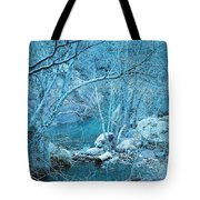 Sycamores And River Tote Bag