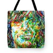 Syd Barrett - Watercolor Portrait Tote Bag