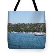 Sydney Beach And Boat Docks Tote Bag