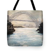 Sydney Ferry Wharves 1950's Tote Bag