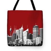 Sydney Skyline 1 - Dark Red Tote Bag