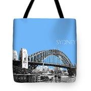 Sydney Skyline 2 Harbor Bridge - Light Blue Tote Bag
