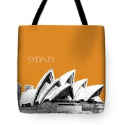 Sydney Skyline 3  Opera House - Dark Orange Tote Bag