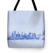 Sydney Skyline Blueprint Tote Bag
