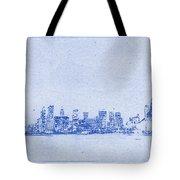 Sydney Skyline Blueprint Tote Bag by Kaleidoscopik Photography
