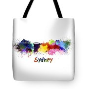 Sydney Skyline In Watercolor Tote Bag