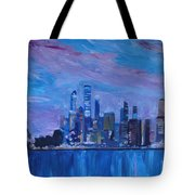Sydney Skyline With Opera House At Dusk Tote Bag