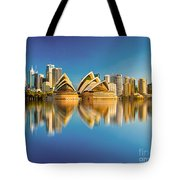 Sydney Skyline With Reflection Tote Bag