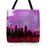 Sydney Watercolor Skyline 2 Tote Bag
