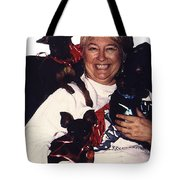 Sylver Short With Her Miniature Pinschers Christmas 2002-2008 Tote Bag