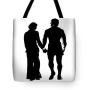 Sylvester Stallone And Talia Shire In Rocky Tote Bag