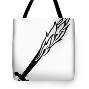 Symbol Flaming Sword Tote Bag