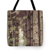 Symmetrical Evergreens  Tote Bag