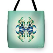 Symmetrical Orchid Art - Blues And Greens Tote Bag