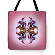 Symmetrical Orchid Art - Reds Tote Bag
