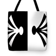 Symmetry In Black And White Digital Painting Tote Bag