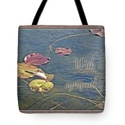 Sympathy Greeting Card - Autumn Lily Pads Tote Bag