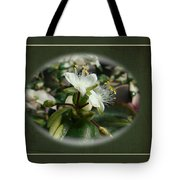 Sympathy Greeting Card - Elegant Floral Green And White Tote Bag